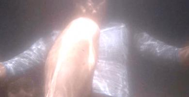 Extraña fotografía de una seguidora bajo el agua
